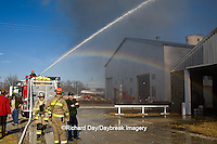 63818-02204 Firefighters extinguishing warehouse fire, Salem, IL