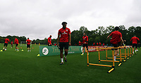 Ashley Williams in action during the Wales Training Session at the Vale Resort, Hensol, Wales, UK. Tuesday 29 August 2017
