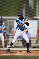 TJ McCants during the WWBA World Championship at the Roger Dean Complex on October 20, 2018 in Jupiter, Florida.  TJ McCants is a shortstop from Cantonment, Florida who attends Pensacola Catholic High School and is committed to Mississippi.  (Mike Janes/Four Seam Images)