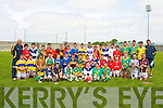 HURLING SKILLS: The large group of hurlers who competed in the Primary School Hurling Skills Finals at Austin Stack Park on Saturday.