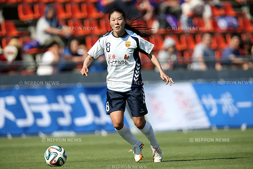 Homare Sawa (INAC), <br /> JUNE 15, 2014 - Football / Soccer : 2014 Nadeshiko League, between AS ELFEN SAITAMA 1-3 INAC KOBE LEONESSA at NACK 5 Stadium Omiya, Saitama, Japan. (Photo by Jun Tsukida/AFLO SPORT)