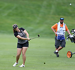 SIOUX FALLS, SD - AUGUST 31: Kassidy Teare chips on to the 7th green, her 16th hole, during the first round of the Great Life Challenge, Symetra Tour stop at Willow Run Thursday afternoon. (Photo by Dave Eggen/Inertia)