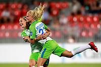 VfL Wolfsburg's Lena Goessling (l) and Pernille Harden celebrate goal during UEFA Womens Champions League 2017/2018, 1/16 Final, 1st match. October 4,2017. (ALTERPHOTOS/Acero) /NortePhoto.com /NortePhoto.com