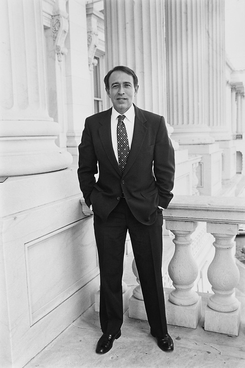 Portrait of Rep. Howard Wolpe, D-Mich., at Capitol Hill. (Photo by Maureen Keating/CQ Roll Call)
