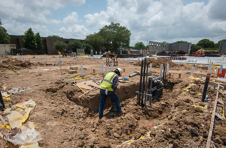 Construction at Askew Elementary School, May 19, 2017.