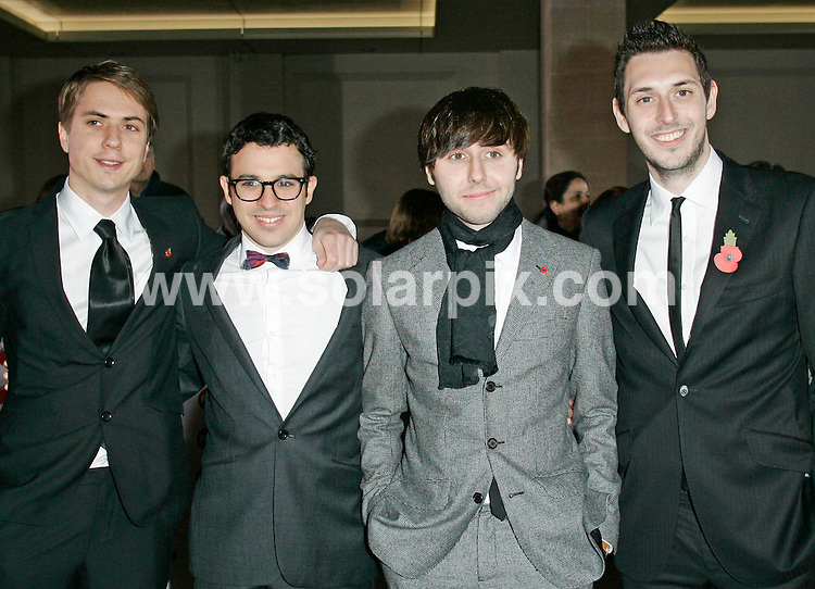 **ALL ROUND PICTURES FROM SOLARPIX.COM**                                             **WORLDWIDE SYNDICATION RIGHTS**                                                                                  Caption: attends the Variety Club Showbiz Awards at Grosvenor House, London, UK. 14 November 2010                                                              This pic: Joe Thomas, Simon Bird, Blake Harrison and James Buckley                                                      JOB REF: 12475 LNJ       DATE: 14_11_2010                                                           **MUST CREDIT SOLARPIX.COM OR DOUBLE FEE WILL BE CHARGED**                                                                      **MUST AGREE FEE BEFORE ONLINE USAGE**                               **CALL US ON: +34 952 811 768 or LOW RATE FROM UK 0844 617 7637**