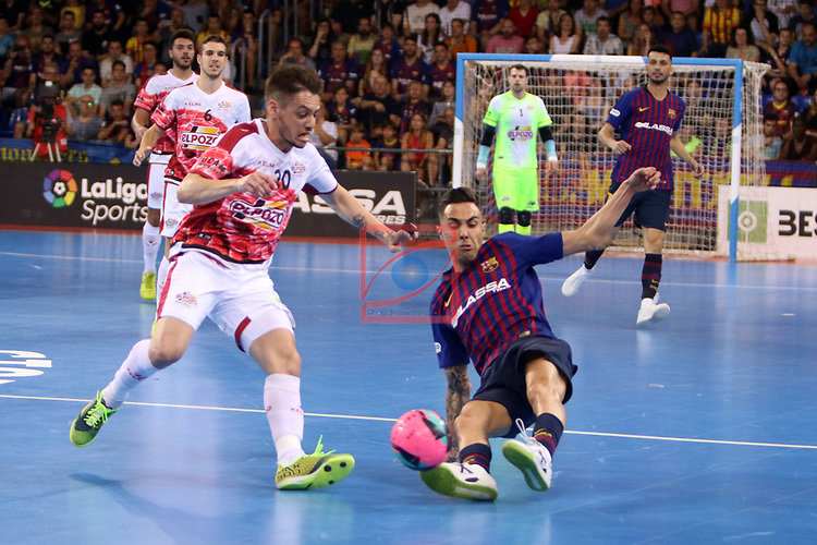 League LNFS 2018/2019.<br /> Play Off. Game: 5.<br /> FC Barcelona Lassa vs El Pozo Murcia: 3-2.<br /> Xuxa vs Aicardo.