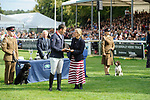 Stamford, Lincolnshire, United Kingdom, 8th September 2019, The prize giving at the end of the 2019 Land Rover Burghley Horse Trials, Credit: Jonathan Clarke/JPC Images