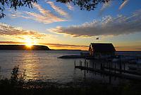 Sunset at Anderson Dock, Ephraim Harbor, Door County, Wisconsin