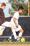 Palos Verdes, CA 02/09/12 - Kyle Perebowow (Peninsula #25) in action during the West vs Peninsula Bay League boys varsity soccer game.
