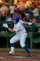 April 9th 2010: Ryne White of the Daytona Cubs in the game against the Brevard County Manatees at Jackie Robinson Ballpark in Daytona Beach, FL (Photo By Scott Jontes/Four Seam Images)