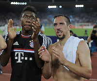 FUSSBALL   CHAMPIONS LEAGUE   SAISON 2011/2012  Qualifikation  23.08.2011 FC Zuerich - FC Bayern Muenchen Schlussjubel FC Bayern Muenchen; David Alaba (li) und Franck Ribery