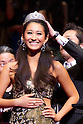 June 17, 2011 - Tokyo, Japan - Miss Universe Japan 2011 winner Maria Kamiyama celebrates during the Miss Universe Japan finals at Tokyo Dome City Hall in Tokyo, Japan. (Photo by Christopher Jue/AFLO)