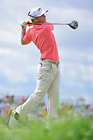 Talor Gooch (USA) watches his tee shot on 7 during Saturday's round 3 of the 117th U.S. Open, at Erin Hills, Erin, Wisconsin. 6/17/2017.<br /> Picture: Golffile | Ken Murray<br /> <br /> <br /> All photo usage must carry mandatory copyright credit (&copy; Golffile | Ken Murray)