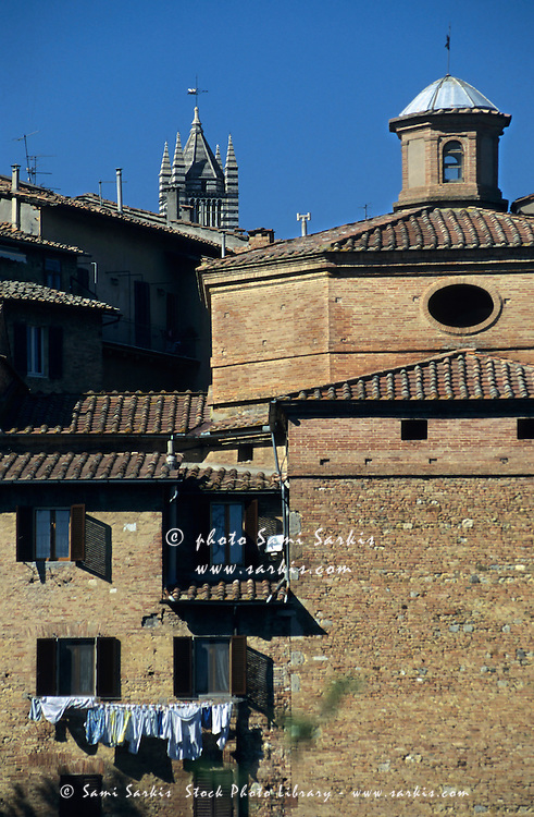 Buildings and rooftops, Sienna, Italy.