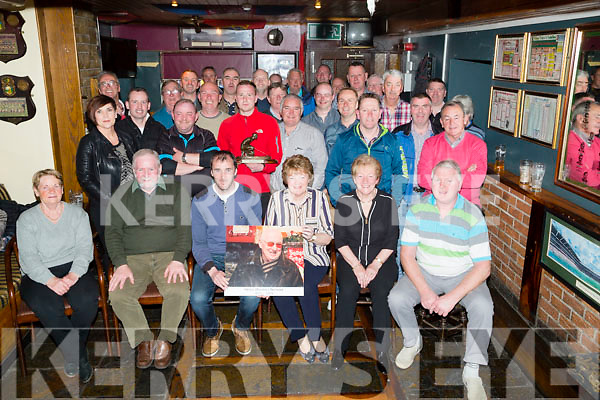 The Greyhound Golfing Society who played in the Bruddy Burrows Memorial Golf tournament in Killorglin and afterward in Greyhound Bar,Tralee family members of the late  Bruddy Burrows presented the prizes