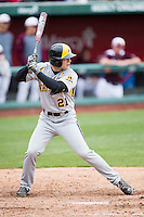 Taylor Doggett #21 of the Wichita State Shockers at bat during a game against the Missouri State Bears at Hammons Field on May 5, 2013 in Springfield, Missouri. (David Welker/Four Seam Images)