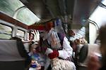 Local artists perform a fashion show and a folk dance on the train ride to Machu Pichu.