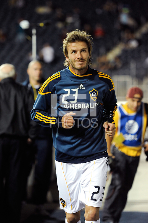 David Beckham (23) of the Los Angeles Galaxy. The Los Angeles Galaxy defeated the Philadelphia Union  1-0 during a Major League Soccer (MLS) match at PPL Park in Chester, PA, on October 07, 2010.