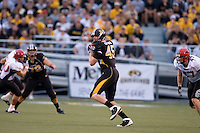 06 September 2008: Missouri tight end Chase Coffman #45 catches a pass during first quarter action against Southeast Missouri State at Memorial Stadium in Columbia, Missouri.