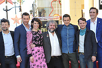Director Peter Jackson with actors Andy Serkis, Richard Armitage, Evangeline Lilly, Orlando Bloom, Elijah Wood &amp; Lee Pace on Hollywood Blvd where he was honored with the 2,538th star on the Hollywood Walk of Fame.<br /> December 8, 2014  Los Angeles, CA<br /> Picture: Paul Smith / Featureflash