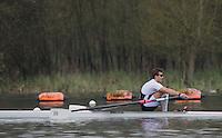 Caversham. Berkshire. UK<br /> Chris LAWRIE.<br /> 2016 GBRowing U23 Trials at the GBRowing Training base near Reading, Berkshire.<br /> <br /> Monday  11/04/2016 <br /> <br /> [Mandatory Credit; Peter SPURRIER/Intersport-images]