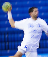 11 JUN 2010 - LONDON, GBR - Cyprus' Panayiotis Christodoulou shoots during the teams match against Bulgaria at their 2012 European Handball Championships Qualification Tournament .(PHOTO (C) NIGEL FARROW)