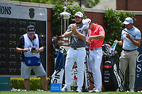 Tyrrell Hatton (ENG) waits to tee off on 1 during round 1 of the 2019 Charles Schwab Challenge, Colonial Country Club, Ft. Worth, Texas,  USA. 5/23/2019.<br /> Picture: Golffile | Ken Murray<br /> <br /> All photo usage must carry mandatory copyright credit (© Golffile | Ken Murray)