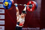 /Masanori Miyamoto (JPN), <br /> AUGUST 22, 2018 - Weightlifting : <br /> Men's 69kg <br /> at JIExpo Kemayoran Hall A <br /> during the 2018 Jakarta Palembang Asian Games <br /> in Jakarta, Indonesia. <br /> (Photo by Naoki Morita/AFLO SPORT)