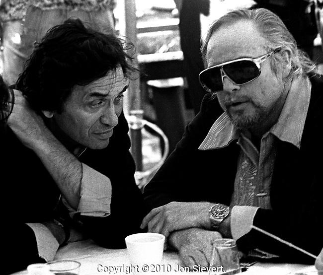 Bill Graham, Marlon Brando, March 1975, Kezar Stadium, San Francisco
