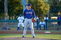 AZL Rangers starting pitcher Collin Wiles (46) during an Arizona League game against the AZL Dodgers Mota at Camelback Ranch on June 18, 2019 in Glendale, Arizona. AZL Dodgers Mota defeated AZL Rangers 13-4. (Zachary Lucy/Four Seam Images)