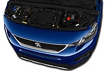 Car Stock 2019 Peugeot Rifter Allure Door Mini Mpv Engine  high angle detail view