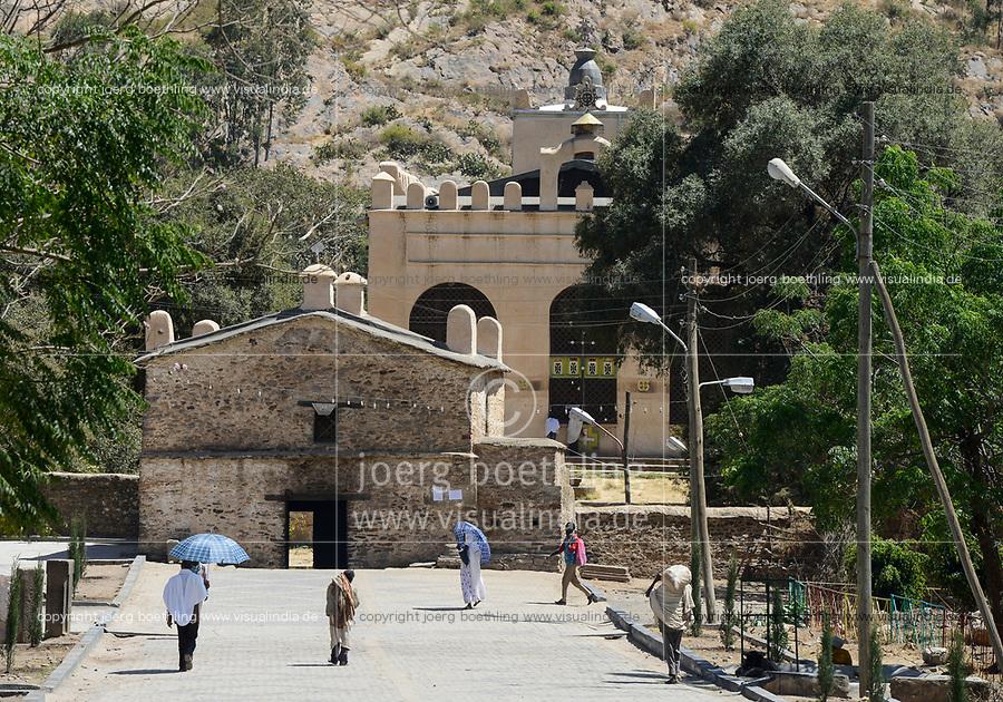 ETHIOPIA , Tigray, Axum, old Church of Our Lady Mary of Zion, where the Ark of the Covenant is kept / AETHIOPIEN, Tigray, Aksum, alte Kirche der Heiligen Maria von Zion, in der Kapelle wird nach äthiopisch-orthodoxer Tradition die Bundeslade aufbewahrt.