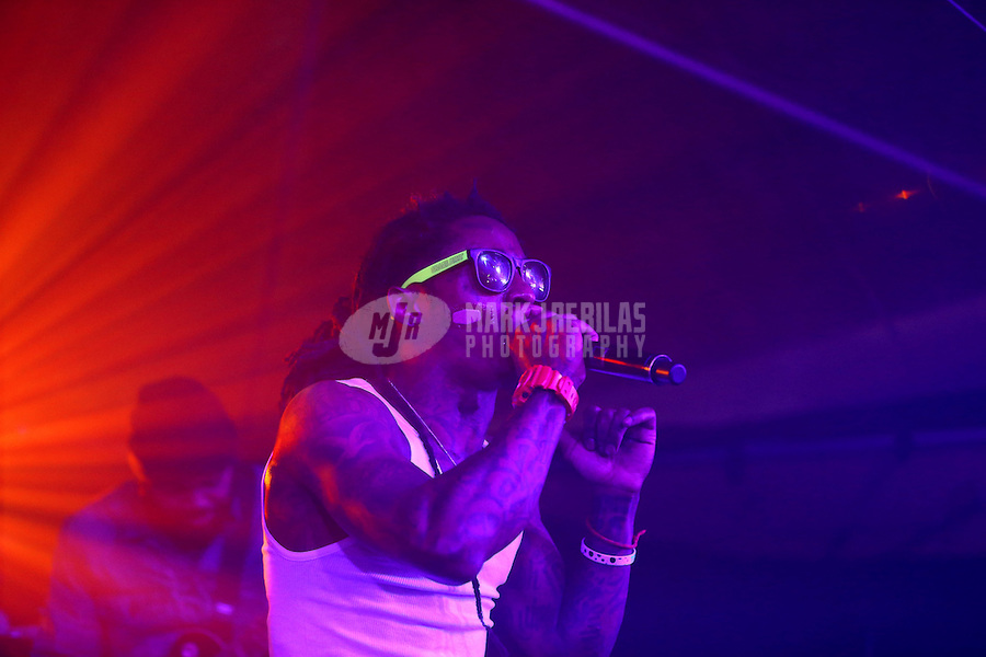 Feb. 2, 2013; New Orleans, LA, USA: Recording artist Lil Wayne performs during the GQ Party at the Elms Mansion leading up to Super Bowl XLVII. Mandatory Credit: Mark J. Rebilas-USA TODAY Sports