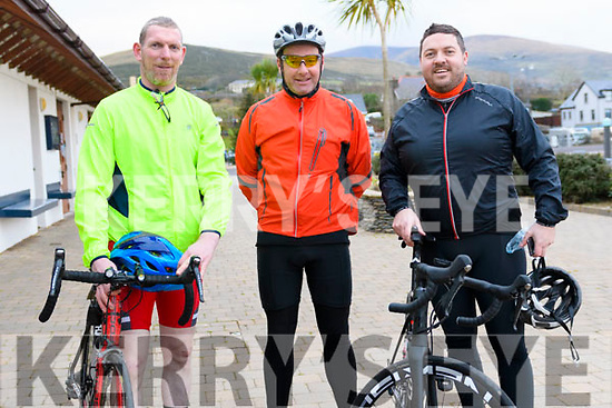 James O'Connor, Tommy Griffin and Gavin McConnell at the annual New Year's Eve cycle organized by the Dingle Cycling Club.