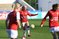 20200310  Lagos , Portugal : Danish defender Sofie Svava (23) pictured during warming up of the female football game between the national teams of Belgium called the Red Flames and Denmark on the third and last matchday for the 5th or 6th place of the Algarve Cup 2020 , a prestigious friendly womensoccer tournament in Portugal , on tuesday 10 th March 2020 in Lagos , Portugal . PHOTO SPORTPIX.BE | DAVID CATRY
