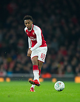 Arsenal's Joe Willock during the Carabao Cup QF match between Arsenal and West Ham United at the Emirates Stadium, London, England on 19 December 2017. Photo by Andrew Aleksiejczuk / PRiME Media Images.