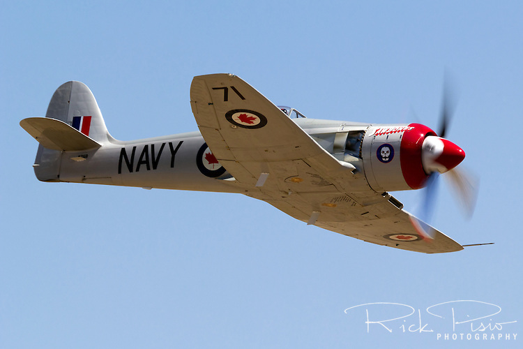 "Hawker Sea Fury ""Sawbones"" was flown by Space Shuttle Astronaut Curt Brown during the 2012 National Championship Air Races"