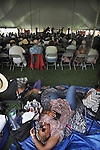 Overview of audience, during the session by the Craig Harris Group at the Annual Jazz in the Valley Festival,  in Waryas Park in Poughkeepsie, NY, on Sunday, August 21, 2016. Photo by Jim Peppler. Copyright Jim Peppler 2016 all rights reserved.