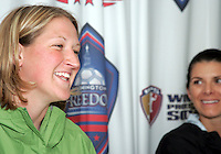 Mia Hamm and Siri Mullinix news conference at the Maryland Soccerplex on May 3, 2009 in Boyds Maryland.