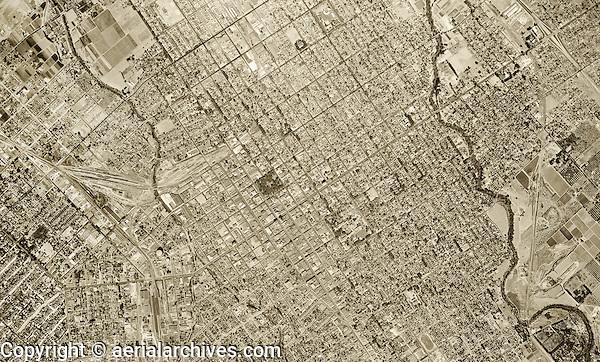 historical aerial photograph San Jose, California, 1948