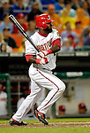 16 May 2007: Washington Nationals shortstop Cristian Guzman in action against the Atlanta Braves at RFK Stadium in Washington, DC. The Nationals rallied to defeat the Braves 6-4 to take a 2-1 lead in their four-game series...Mandatory Photo Credit: Ed Wolfstein Photo