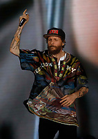 Lorenzo Jovanotti performs during &quot;Pino &egrave;&quot; tribute concert at Pino Daniele, Italian singer dead in 2015,<br /> <br /> Naples 07 june 2018