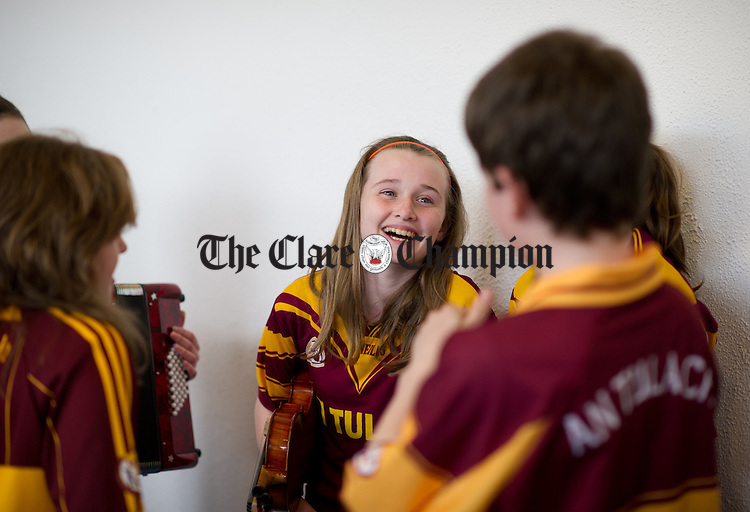 Laoise Culloo of Tulla having fun at Scor na Paisti in Cois na hAbhna, Ennis. Photograph by John Kelly.