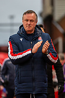 11th January 2020; Bet365 Stadium, Stoke, Staffordshire, England; English Championship Football, Stoke City versus Milwall FC; Stoke City Manager Michael O'Neill - Strictly Editorial Use Only. No use with unauthorized audio, video, data, fixture lists, club/league logos or 'live' services. Online in-match use limited to 120 images, no video emulation. No use in betting, games or single club/league/player publications
