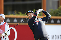 Mikko Ilonen (FIN) tees off the 1st tee during Thursday's Round 1 of the 2017 Omega European Masters held at Golf Club Crans-Sur-Sierre, Crans Montana, Switzerland. 7th September 2017.<br /> Picture: Eoin Clarke | Golffile<br /> <br /> <br /> All photos usage must carry mandatory copyright credit (&copy; Golffile | Eoin Clarke)