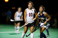 STANFORD, CA - September 3, 2010: Stephanie Byrne during a field hockey match against UC Davis in Stanford, California. Stanford won 3-1.