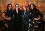 Selenis Leyva, Kate Mulgrew, Dale Soules and Laura Gomez attends The Vineyard Theatre's Emerging Artists Luncheon at The National Arts Club on November 9, 2017 in New York City.