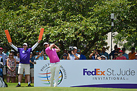 Brooks Koepka (USA) watches his tee shot on 13 during round 2 of the WGC FedEx St. Jude Invitational, TPC Southwind, Memphis, Tennessee, USA. 7/26/2019.<br /> Picture Ken Murray / Golffile.ie<br /> <br /> All photo usage must carry mandatory copyright credit (© Golffile | Ken Murray)