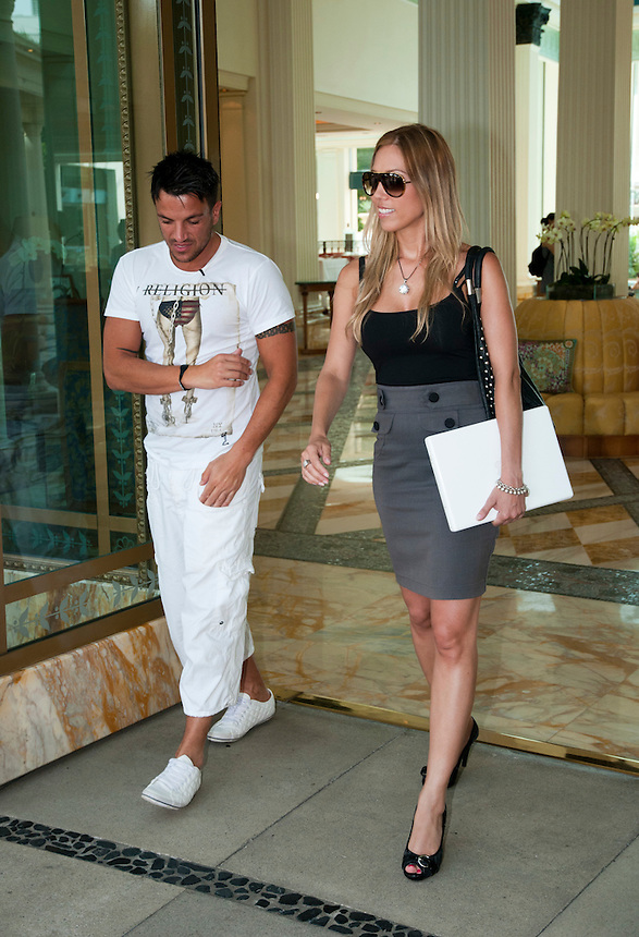 I'm a celebrity Get Me out of here 2011. .Peter Andre and Ange at the Palazzo Versace.Pic Jayne Russell.28.11.2011..Pic Jayne Russell.25.11.2011.